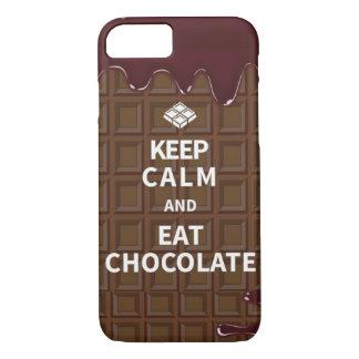 Mantenga tranquilo y coma el chocolate funda iPhone 7