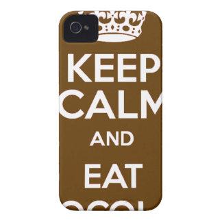 Mantenga tranquilo y coma el chocolate funda para iPhone 4