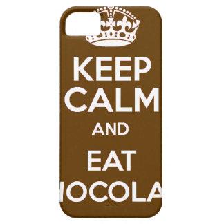 Mantenga tranquilo y coma el chocolate funda para iPhone SE/5/5s