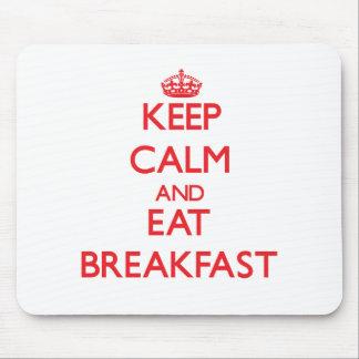 Mantenga tranquilo y coma el desayuno tapete de ratones