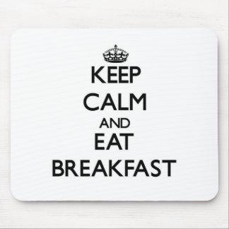 Mantenga tranquilo y coma el desayuno alfombrilla de raton