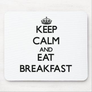 Mantenga tranquilo y coma el desayuno alfombrilla de ratones