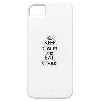 Mantenga tranquilo y coma el filete iPhone 5 cárcasa