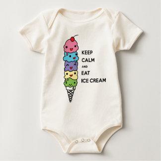 Mantenga tranquilo y coma el helado 1 body de bebé