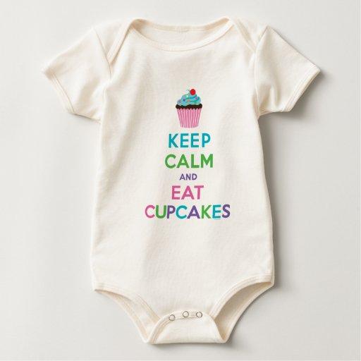 Mantenga tranquilo y coma el ll de las magdalenas body para bebé