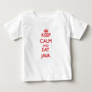 Mantenga tranquilo y coma Java T Shirt