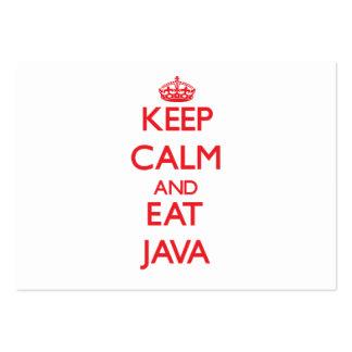 Mantenga tranquilo y coma Java Tarjeta De Visita