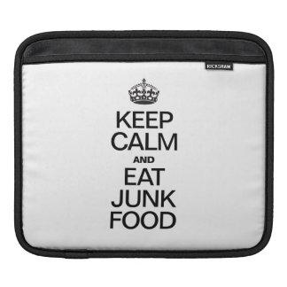 MANTENGA TRANQUILO Y COMA JUNK FOOD FUNDA PARA iPads