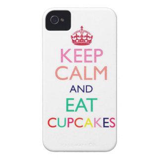 Mantenga tranquilo y coma la caja de IPhone 4 de iPhone 4 Carcasas