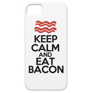 mantenga tranquilo y coma la caja divertida del iPhone 5 Case-Mate cárcasa