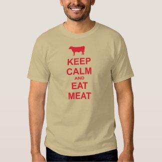 Mantenga tranquilo y coma la carne playera
