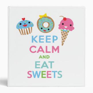 Mantenga tranquilo y coma la carpeta de los dulces