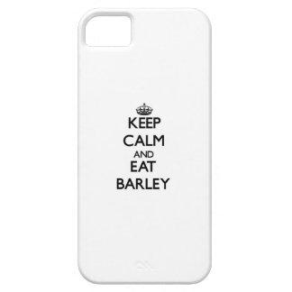 Mantenga tranquilo y coma la cebada iPhone 5 Case-Mate protectores