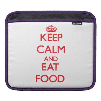 Mantenga tranquilo y coma la comida funda para iPads