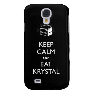 Mantenga tranquilo y coma la cubierta del iPhone d Funda Para Galaxy S4