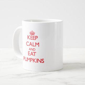 Mantenga tranquilo y coma las calabazas taza jumbo