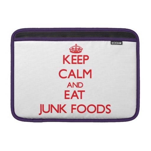 Mantenga tranquilo y coma las comidas de desperdic fundas para macbook air