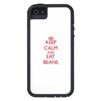 Mantenga tranquilo y coma las habas iPhone 5 Case-Mate protectores