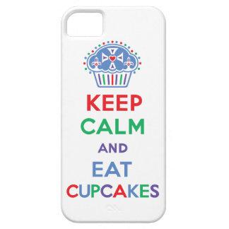 Mantenga tranquilo y coma las magdalenas 1 iPhone  iPhone 5 Case-Mate Cárcasas