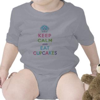 Mantenga tranquilo y coma las magdalenas - bebé traje de bebé