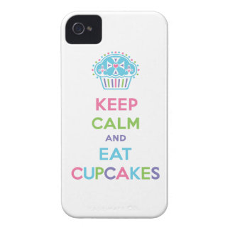 Mantenga tranquilo y coma las magdalenas carcasa para iPhone 4