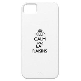 Mantenga tranquilo y coma las pasas iPhone 5 Case-Mate funda