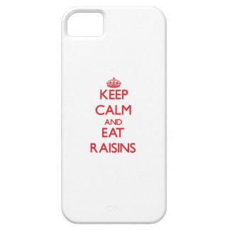 Mantenga tranquilo y coma las pasas iPhone 5 protectores