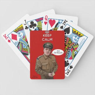 Mantenga tranquilo y coma los naipes de las gallet baraja de cartas