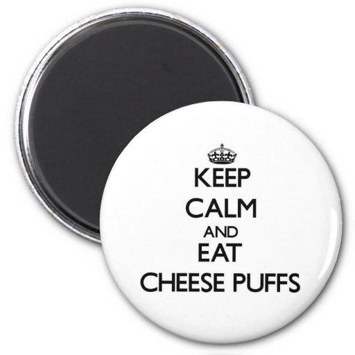 Mantenga tranquilo y coma los soplos del queso imán redondo 5 cm