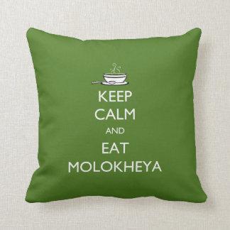 Mantenga tranquilo y coma Molokheya Almohadas