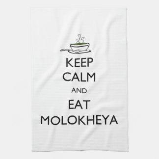 Mantenga tranquilo y coma Molokheya Toalla De Mano