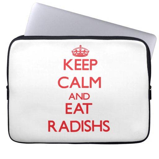 Mantenga tranquilo y coma Radishs Funda Portátil