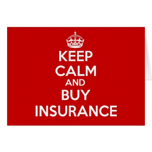 Mantenga tranquilo y compre el seguro felicitación