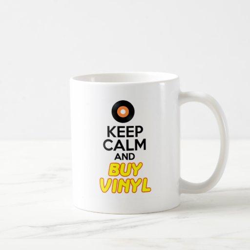 Mantenga tranquilo y compre el vinilo taza de café