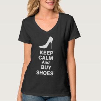 Mantenga tranquilo y compre la camiseta de los