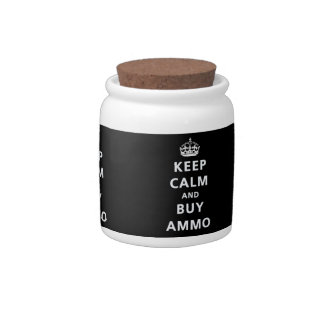 Mantenga tranquilo y compre la munición jarras para caramelos