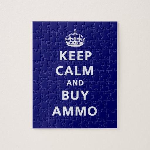 Mantenga tranquilo y compre la munición rompecabezas