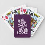 Mantenga tranquilo y compre libros (en cualquier c baraja de cartas