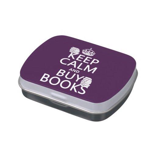 Mantenga tranquilo y compre libros (en cualquier c jarrones de dulces