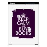 Mantenga tranquilo y compre libros (en cualquier c iPad 3 skin