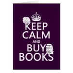 Mantenga tranquilo y compre libros (en cualquier c tarjetas