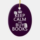 Mantenga tranquilo y compre libros (en cualquier ornamento para reyes magos
