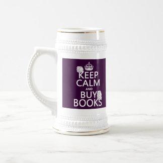 Mantenga tranquilo y compre libros (en cualquier jarra de cerveza