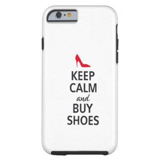 Mantenga tranquilo y compre zapatos arte de la