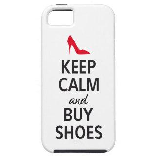 Mantenga tranquilo y compre zapatos arte de la pa iPhone 5 carcasa