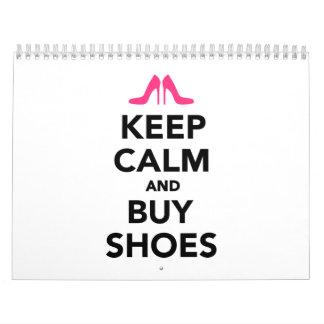Mantenga tranquilo y compre zapatos calendarios de pared