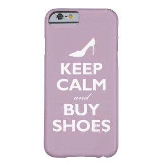 Mantenga tranquilo y compre zapatos la violeta funda de iPhone 6 slim