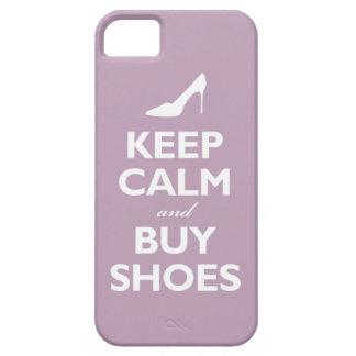 Mantenga tranquilo y compre zapatos (la violeta pá iPhone 5 coberturas