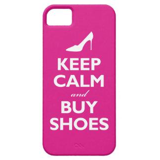 Mantenga tranquilo y compre zapatos (las rosas fue iPhone 5 Case-Mate protector