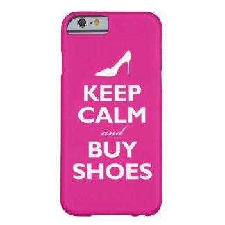 Mantenga tranquilo y compre zapatos (las rosas funda de iPhone 6 barely there